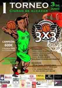 3x3 212x300 - El I Torneo de baloncesto 3x3 Ciudad de Alcázar, será el 3 de junio