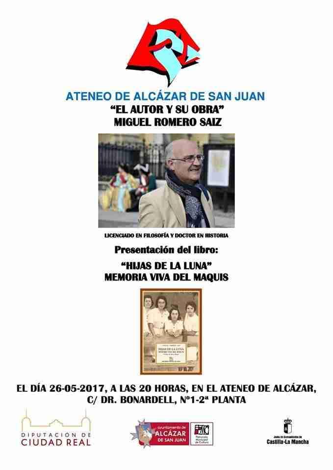 """El Ateneo de Alcázar acoge la presentación del libro: """"Hijas de la luna"""" Memoria Viva del Maquis 2"""