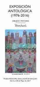 """cartel marchante 1 137x300 - Marchante presenta """"Exposición Antológica (1976-2016)"""" en el Museo Municipal"""