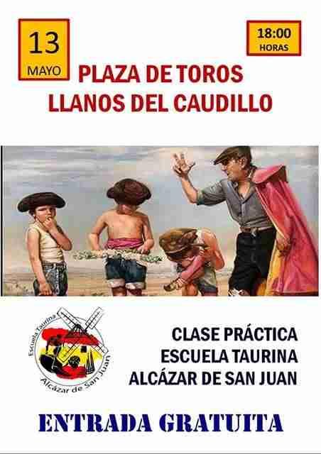 Clase práctica de la Escuela Taurina de Alcázar de San Juan en Llanos del Caudillo 1