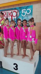 gimnasia 2 168x300 - Gran actuación de la Escuela de Alcázar de San Juan dirigida por el Club Rítmica Ros