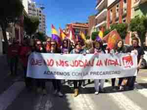 manifestacion 1 mayo alcazar 2 300x225 - Izquierda Unida Alcázar: Ofrenda floral y manifestación en el 1 de Mayo