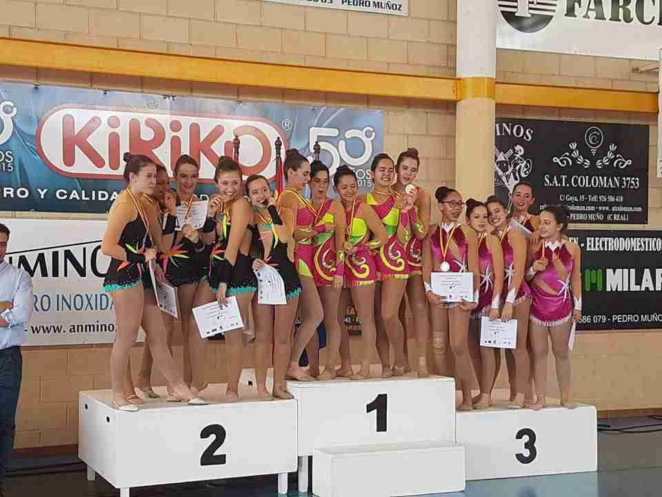 podio gimnasia ritmica provincial 2 - Alcázar en el II fase del campeonato provincial clasificatorio