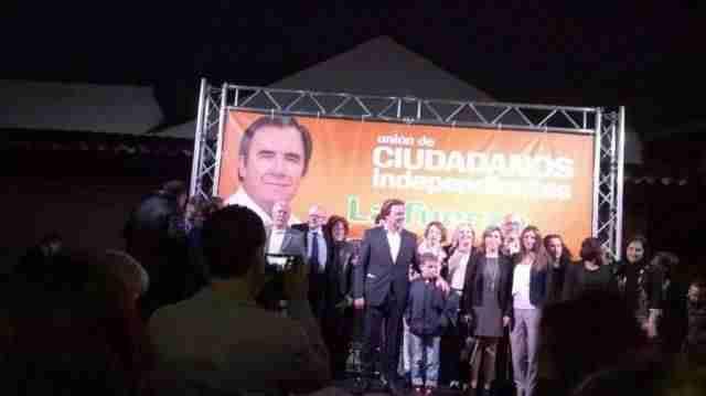 Presentación de la candidatura de UCIN de Alcázar de San Juan. Foto archivo twitter abril 2015.