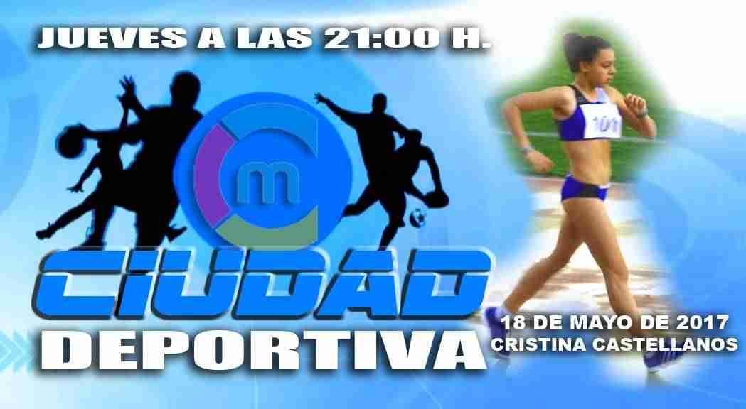 La marchadora Cristina Castellanos en el programa Ciudad Deportiva 1
