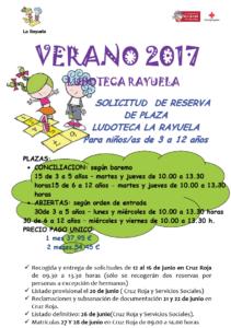 ludoteca rayuela 211x300 - LUDOTECA Verano 2017: Regaliz (Colegio Alces) y Rayuela (Cruz Roja)