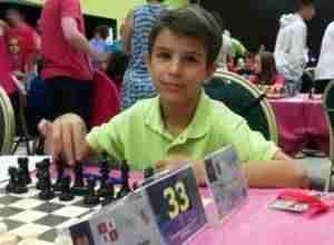 Alonso López finaliza 37º en su primer campeonato de España sub-12 de ajedrez.