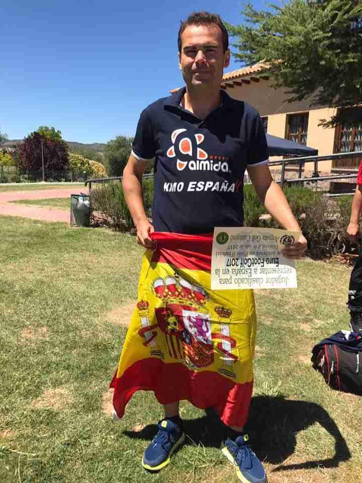Jaime Romero en campeonato España de footgolf