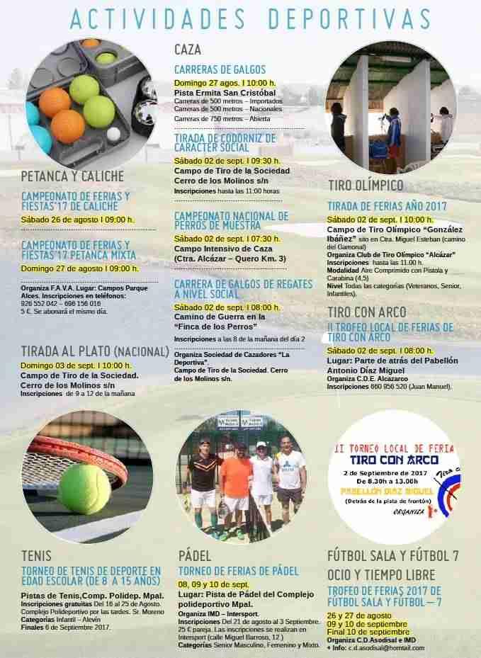 Actividades Deportivas en Feria y Fiestas de Alcázar De San Juan