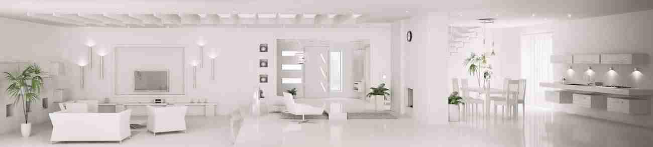 Iluminar un piso blanco
