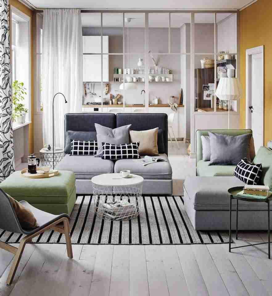 Salón y dormitorio para pisos pequeños