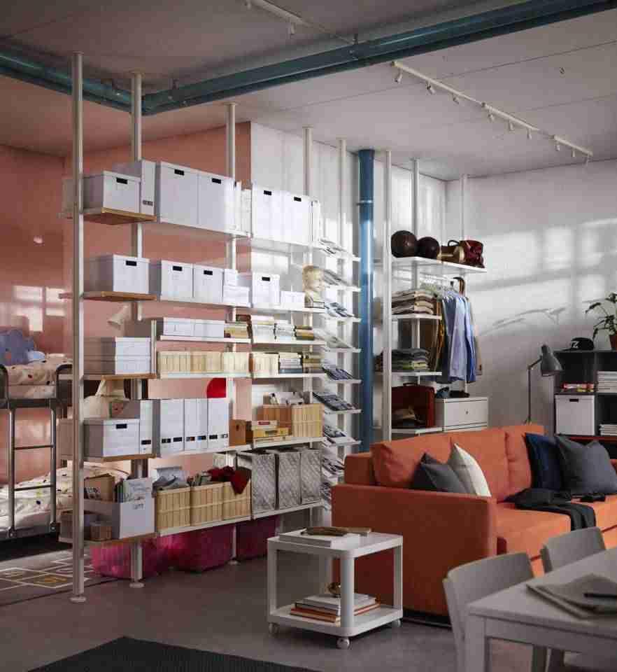 Separación de espacio en salones IKEA