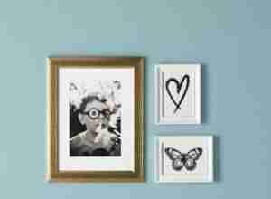 Decoración de paredes con cuadros del catálogo de IKEA