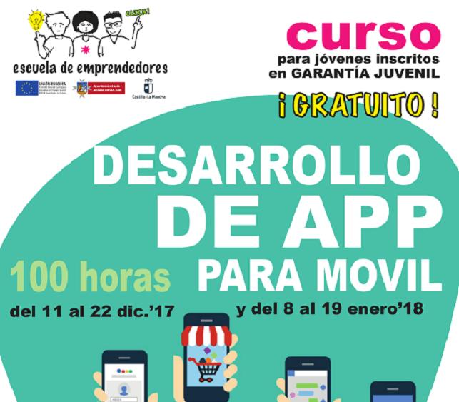 """""""Desarrollo de App para Móvil"""", nueva acción Formativa de la Escuela de Emprendedores 1"""