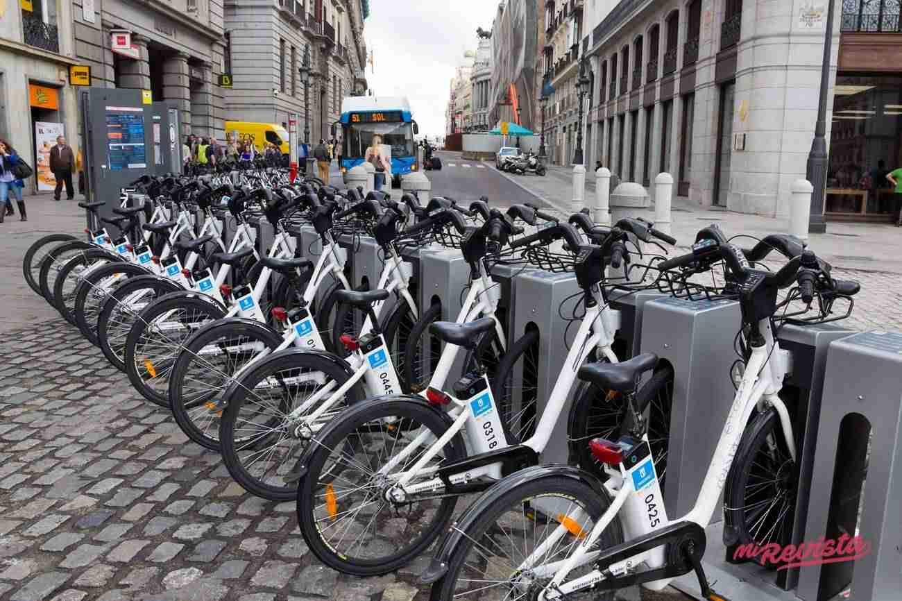 BiciMAD, las bicicletas de Madrid.
