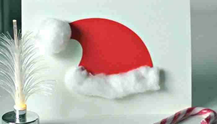 Tarjetas de felicitación de Navidad - Gorro de Papá Noel
