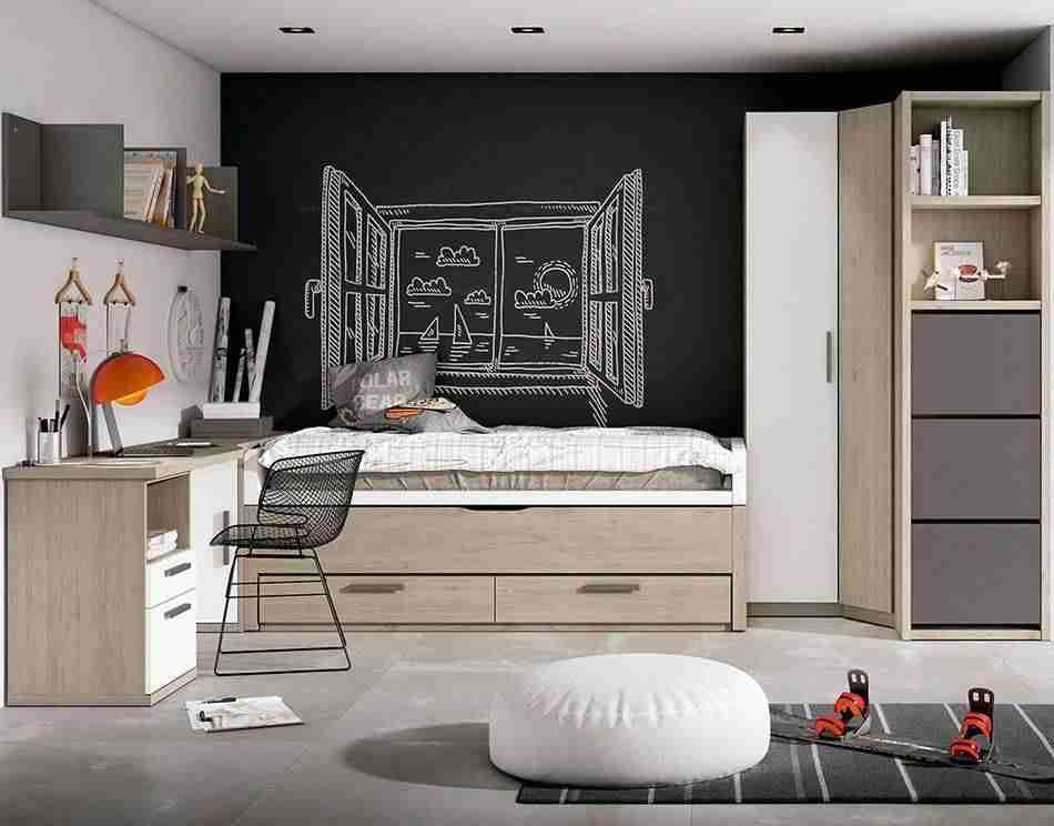 Crear una buena zona de estudio en habitaciones infantiles
