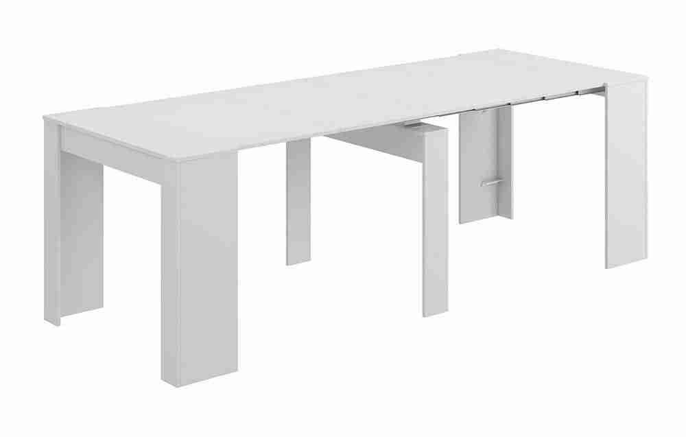 Impresionante mesa consola convertible en mesa comedor