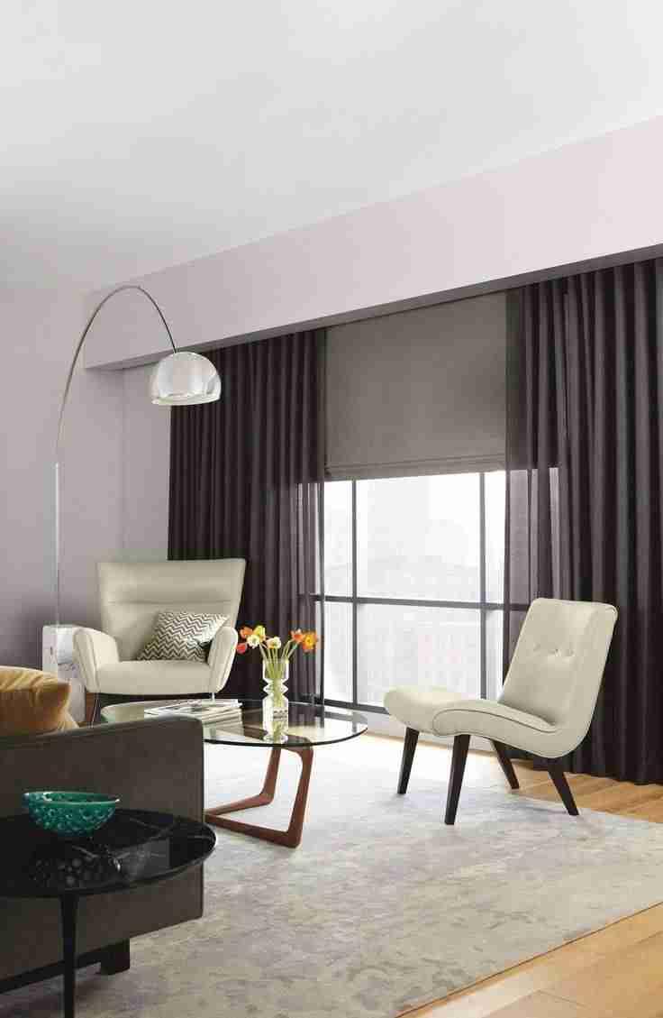 cortinas en el salón con estores