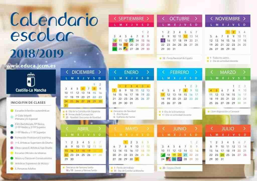 Este Será El Calendario Escolar 2018 2019 En Castilla La Mancha