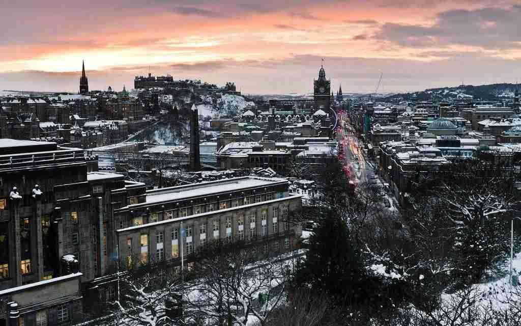 Nieve en Edimburgo
