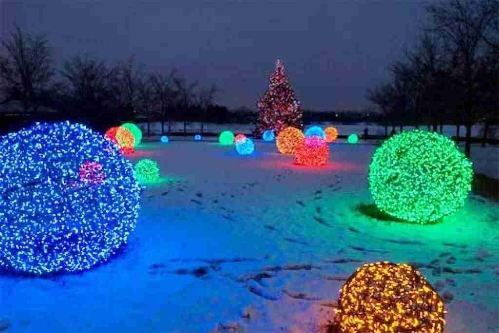 adornos navideños - bola de luz