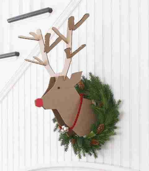 adornos navideños - reno de cartón