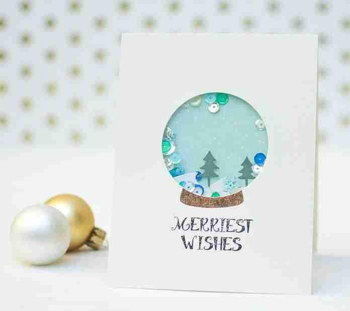 Felicitaciones de Navidad - Bolas de cristal
