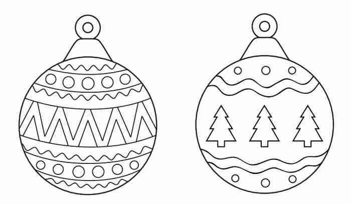 Imagenes De Adornos De Navidad Para Colorear.Dibujos De Navidad Para Imprimir Y Colorear Con Ninos