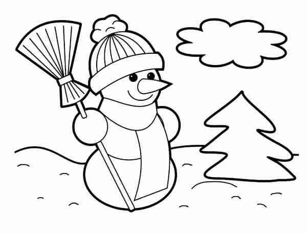 Dibujos de Navidad para imprimir y colorear con niños