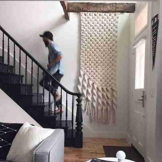 decorar paredes con macrame VII