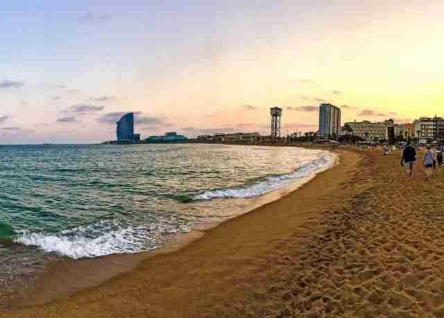 playas de Barcelona España