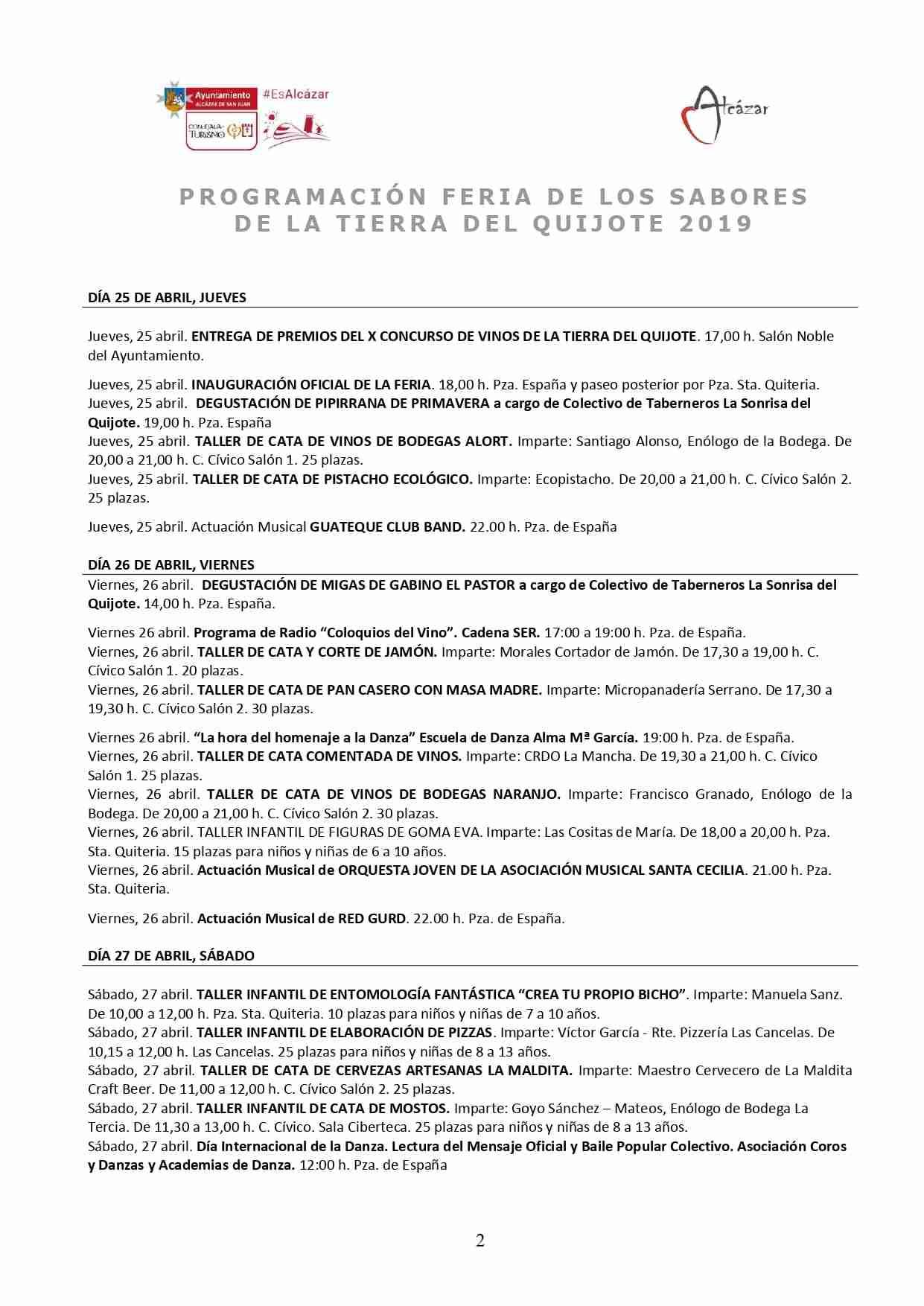 Presentada la programación de la Feria de los Sabores de la Tierra del Quijote 3