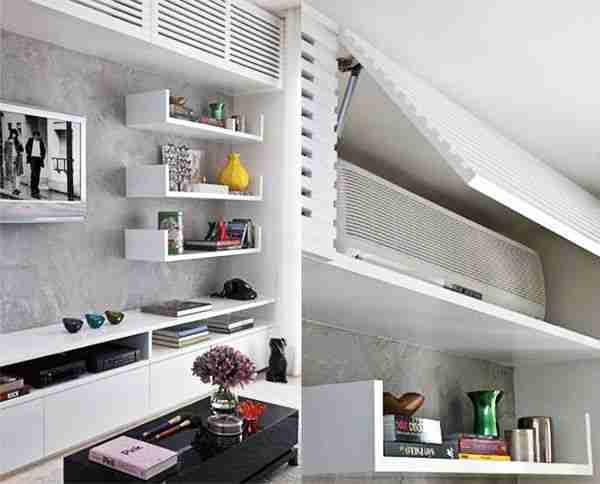 Cómo ocultar el aparato del aire acondicionado en tu hogar 22