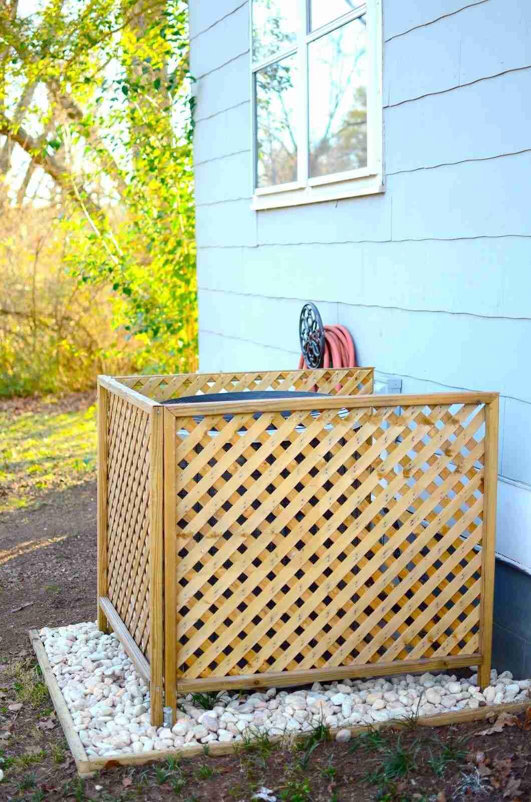 Cómo ocultar el aparato del aire acondicionado en tu hogar 17