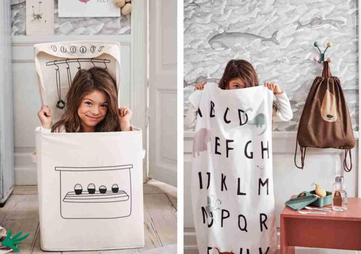 Cestas de H&M para dormitorios infantiles de orden y diversión 6