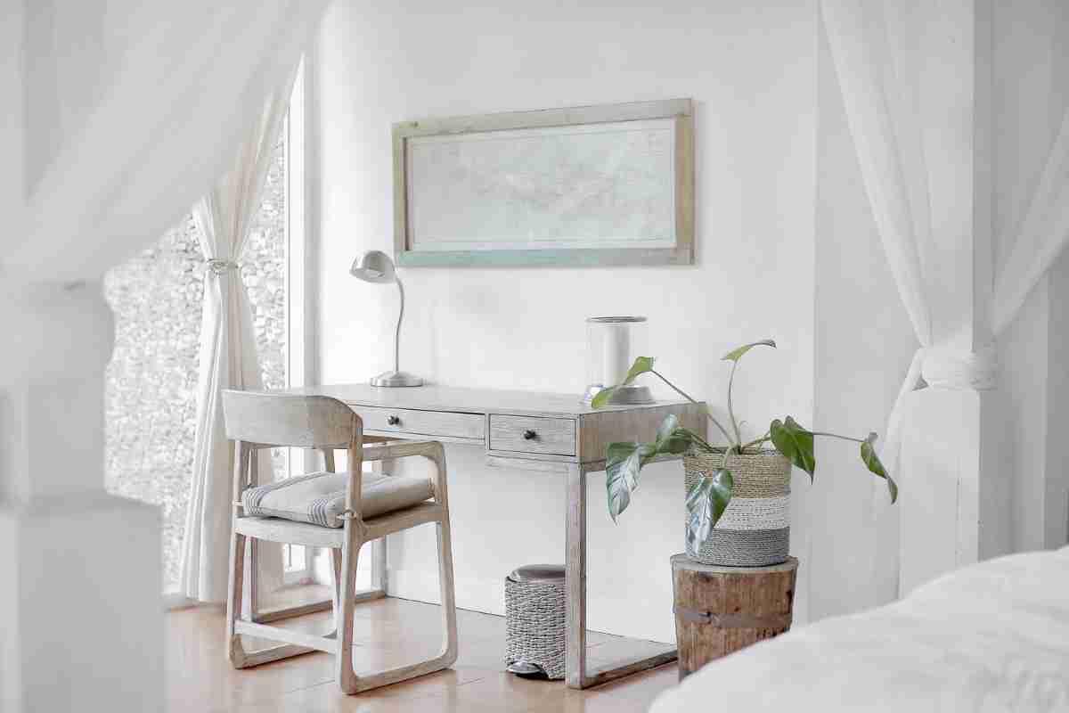 Una zona de trabajo en casa con poco espacio y mucho atractivo 1
