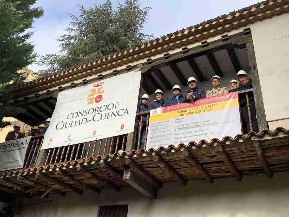El vicepresidente de Castilla-La Mancha visitó obras de rehabilitación del alfar de Pedro Mercedes 1
