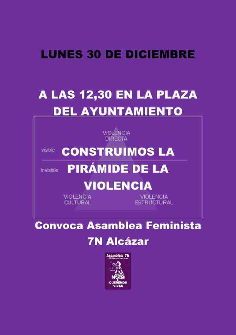 Acción de calle contra la violencia machista el lunes 30