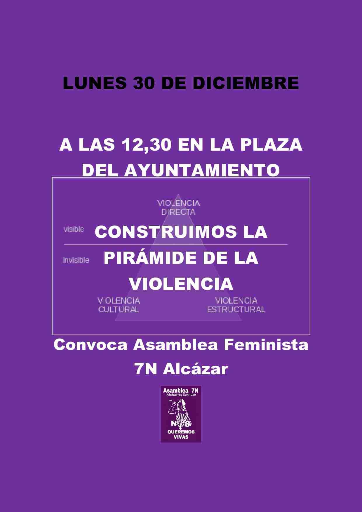 Acción de calle contra la violencia machista el lunes 30 1