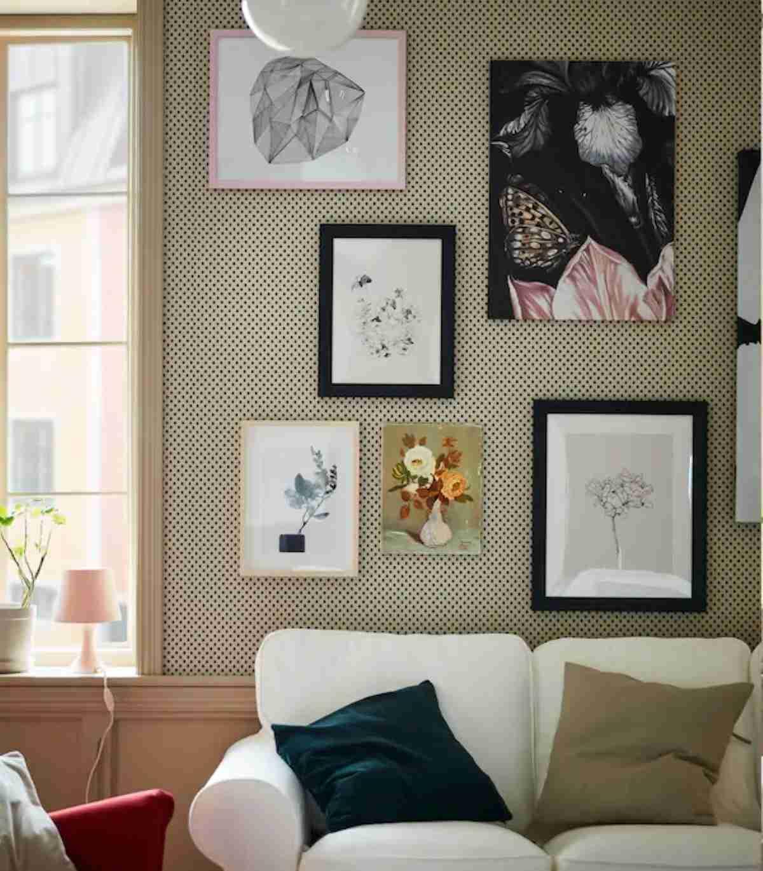 cuadros de ikea para decorar paredes de un salon