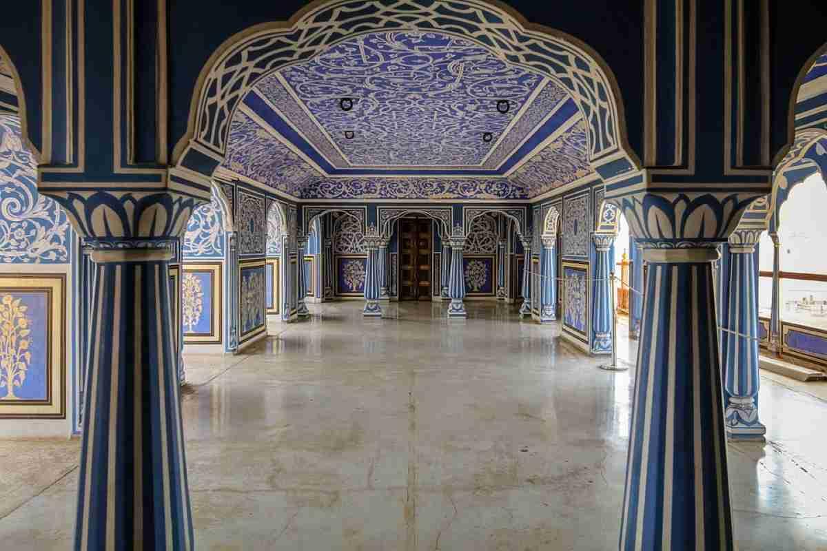 interior del palacio de la ciudad de jaipur india