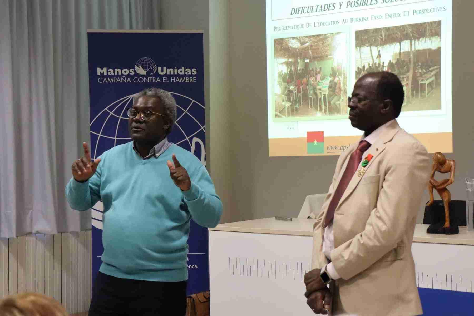 Hamidou Keivin presenta el proyecto de Manos Unidas en Burkina Faso 2