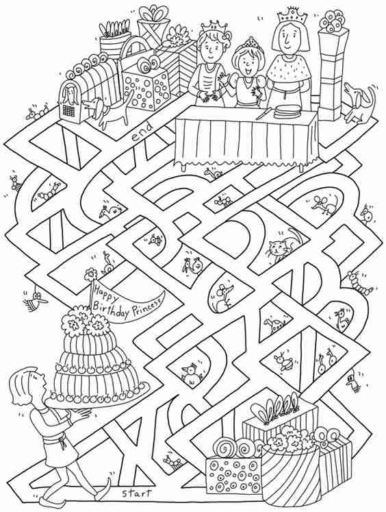 dibujos para colorear con ninos VIII