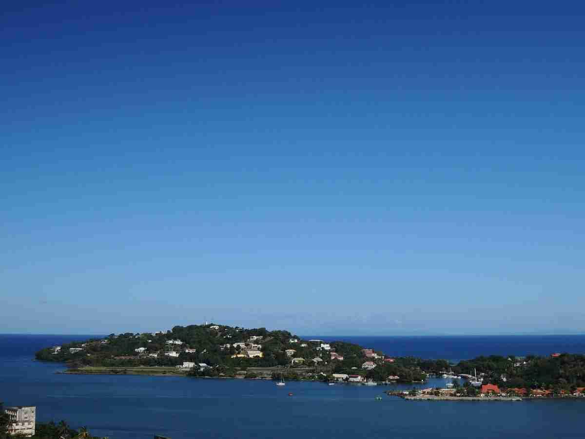 atardecer en la isla de santa lucia