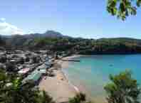 playa de la isla de santa lucia
