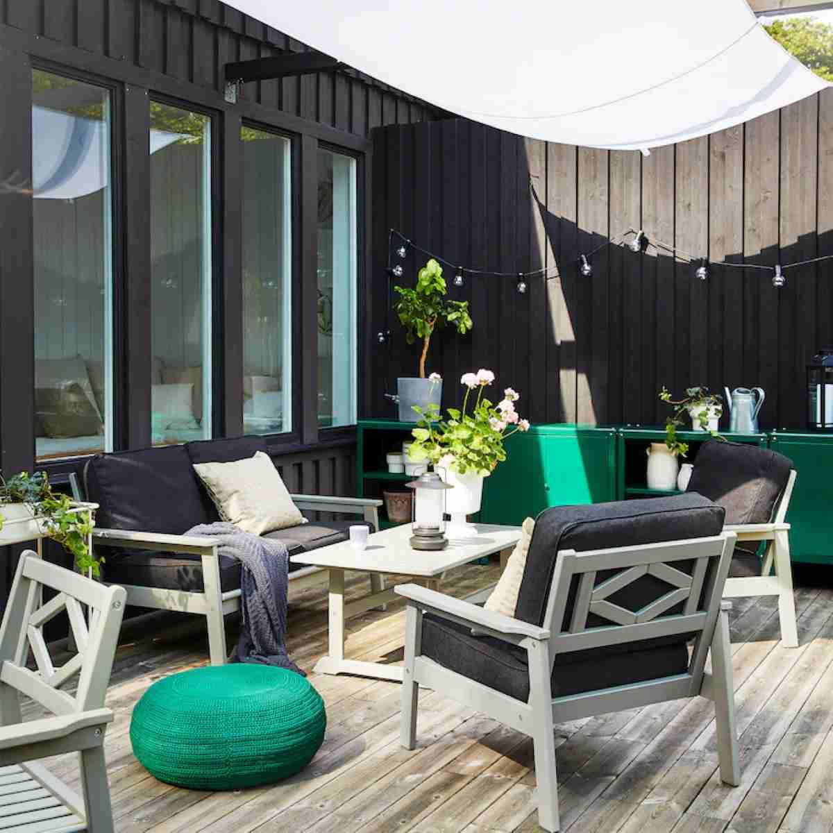 decoracion de terraza con ikea