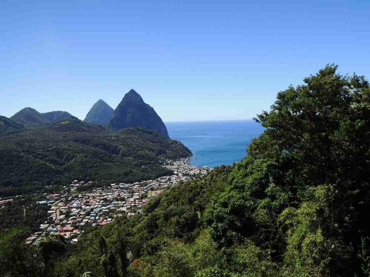 paisaje de isla de santa lucia