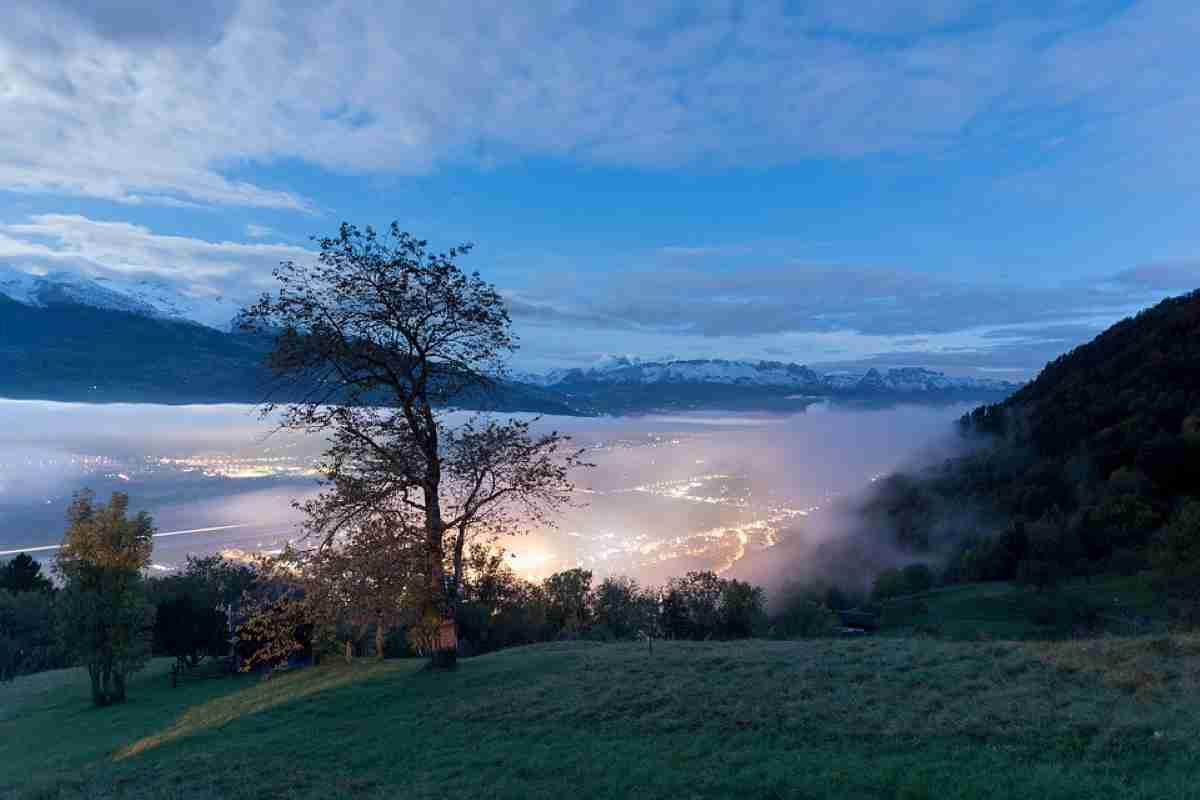 vista nocturna de Liechtenstein