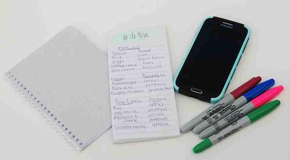 hacer la compra, planificar